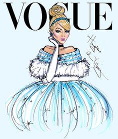 Hayden Williams Fashion Illustrations: Disney Divas for Vogue by Hayden Williams: Cinderella Disney Style, Disney Love, Disney Magic, Disney Art, Hayden Williams, Cartoon Cartoon, Time Cartoon, Moda Disney, Evvi Art