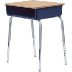 Fusion Maple/Navy Student Desk | Quill.com