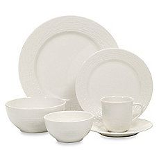 image of Gibson Home Noble Weave 48-Piece Porcelain Dinnerware Set in White  sc 1 st  Pinterest & Threshold Square Glazed 16 piece Dinnerware Set - Cream ($56 ...