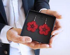 Semicircles 5 | Lace Earrings | Flower Lace Earrings | Floral Lace Earrings | Handmade Bobbin Lace Jewelry