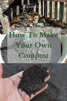 How to make Compost  Garden Compost - A Quaint Life garden guide Healthy Fruits And Vegetables, Different Vegetables, Potager Garden, Garden Compost, Grow Your Own Food, Make Your Own, Make It Yourself, How To Make Compost, Starting A Garden
