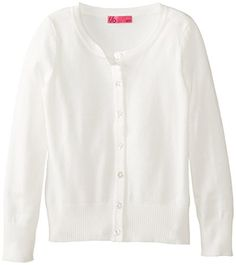 Take Out Big Girls' Everyday Cardigan, White, Large Take Out