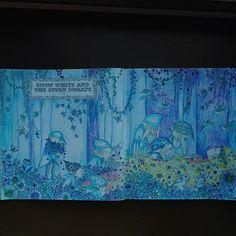 Instagram media tomoko_catlover - #おとぎ話のぬり絵ブック #大人の塗り絵 #大人のぬり絵 #コロリアージュ #しらゆきひめ #白雪姫 #color #coloring #coloringbook #coloredpencil #art #blue #snow white #青