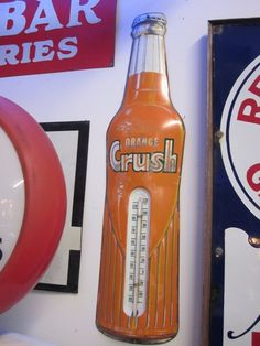 Vintage Thermometers, Orange Crush, Red Seal Battery, Rislone, and Royal Crown Cola. | Collectors Weekly