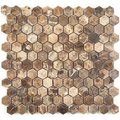Emperador Dark Brown Hexagon Stone Polished Tile
