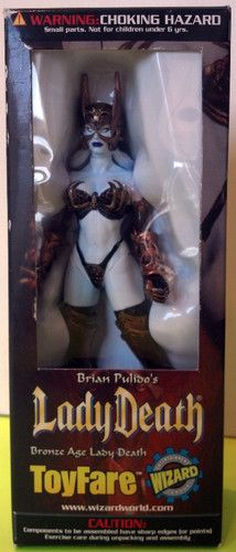 Bronze Age Lady Death Statue for Wizard by ToyFare!  #LadyDeath