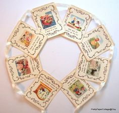 Mother Goose Nursery Rhyme Banner Vintage by PrettyPaperCottage Baby Shower Cupcakes, Baby Shower Themes, Baby Boy Shower, Baby Shower Decorations, Shower Cake, Shower Ideas, Vintage Party Decorations, Birthday Party Decorations, Party Bunting