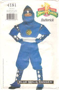 Butterick 4181 Boys Girls Teen BLUE Ninja POWER RANGER by mbchills