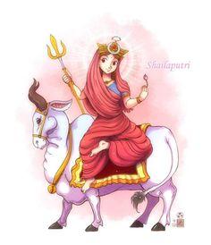 Durga maa for Vijayadashami Jai mata di! Shiva Art, Krishna Art, Hindu Art, Goddess Art, Goddess Lakshmi, Divine Goddess, Durga Maa, Shiva Shakti, Durga Painting