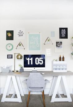A Visual Recipe for Motivation: A Workspace Perfect for Small Spaces — Favorite Rooms | Apartment Therapy