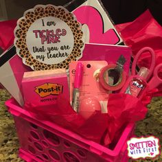 Cute Back to School gift for child's teacher...I am tickled pink that you are my teacher!