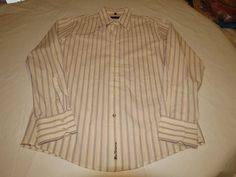 Ben Sherman Mens long sleeve button up dress casual striped shirt L GUC @ #BenSherman #ButtonFront