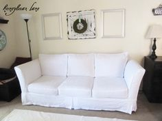 How to make a custom slipcover for your couch.