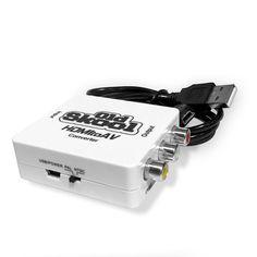 Old Skool HDMI to AV / RCA Adapter Converter For Older TV Sets #OldSkool