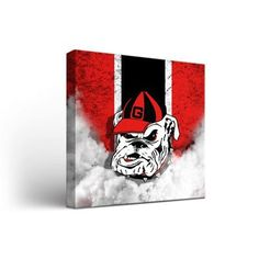 "Victory Tailgate NCAA Georgia Bulldogs Vintage Framed Graphic Art on Wrapped Canvas Size: 12"" H x 12"" W x 1.5"" D"