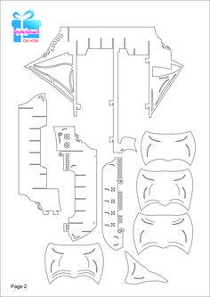 Pirate sHIP 3D Pop-Up /Kirigami pattern 3