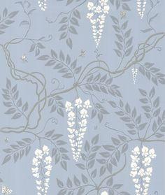 Egerton  Blue wallpaper by Cole & Son