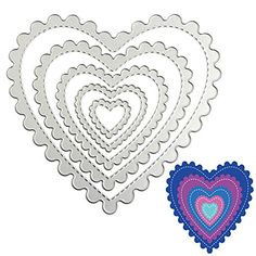 SCASTOE 5pcs Heart Metal Cutting Dies Stencils DIY Scrapbooking Paper Card Album Craft * For more information, visit image link.Note:It is affiliate link to Amazon.