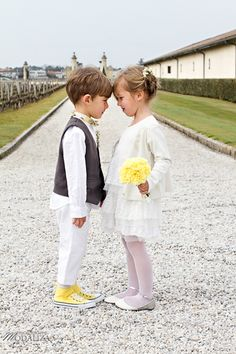 """haha I love this """"wedding"""" ...and all little kids in my wedding will dress/look just like this"""