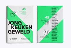 Jong Keukengeweld on Editorial Design Served