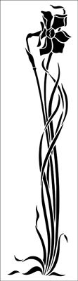 Motif No 75 stencil from The Stencil Library ART NOUVEAU range. Buy stencils online. Stencil code DE265.