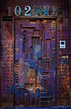 amazing painted front door: