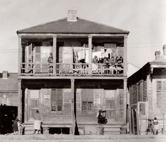 """""""Negro house in New Orleans, Louisiana."""" January 1936.Photograph by Walker Evans for the Farm Security Administration."""