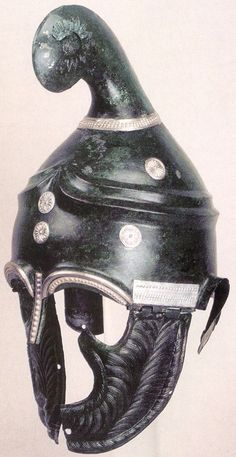 Questionable provenance but described as: Thracian helmet from the village of Pletena, Western Rhodope. First half of the century BCE European Tribes, Les Balkans, Ancient Armor, Greek Warrior, Knight Armor, Ancient Artifacts, Ancient Romans, Ancient Civilizations, Ancient Greece