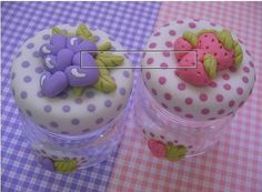 frascos decorados - Buscar con Google Diy Home Crafts, Jar Crafts, Diy Clay, Handmade Polymer Clay, Kerr Jars, Fairy Jars, Felt Embroidery, Ball Jars, Pasta Flexible