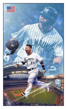Various Baseball Projects on Behance Angels Baseball, Baseball Cards, Game 7, American League, Baseball Season, National League, Milwaukee Brewers, World Series, Major League