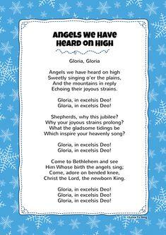 Angels We Have Heard on High Christmas Songs For Toddlers, Free Christmas Songs, Christmas Sheet Music, Christmas Program, Christmas Albums, Christmas Carol, Grinch Christmas, Christmas Parties, Christmas Ideas