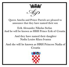 """""""Name Announcement"""" by hrh-amelia-of-croatia ❤ liked on Polyvore"""