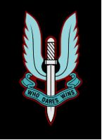 Cap badge of the British SAS The Winged Sword of Damocles