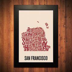 San Francisco Typography Print.