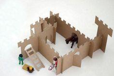 Com papel cartão ou sobras de papelão dá para fazer um mini castelinho incrível! foto reprodução: Maria Victrix