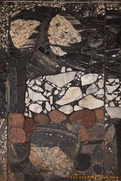 Decorative rock wall texture