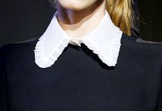 crisp white collar