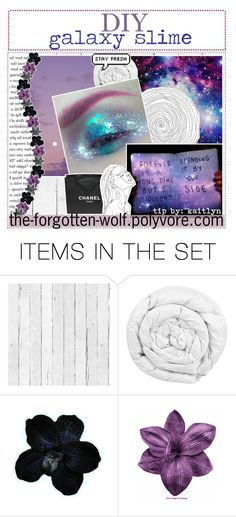 """&&✩; diy galaxy slime // kaitlyn"" by starlight-icons ❤ liked on Polyvore featuring art and kaitlynstipsxo"