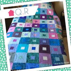 This quilt was made entirely from Pat's fabric stash. It's so satisfying using up your leftover stash!