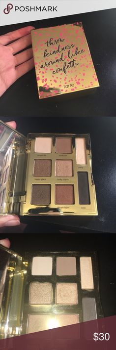 Tarte double duty beauty young wild & free palette Gently used limited edition tarte Amazonian clay formula palette in young wild and free. tarte Makeup Eyeshadow