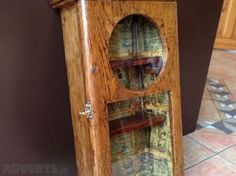 Upcycled Vintage Clock Cabinet Into Curiosity Cabinet Distressed Vintage Book For Sale in Portarlington, Laois from melissabell