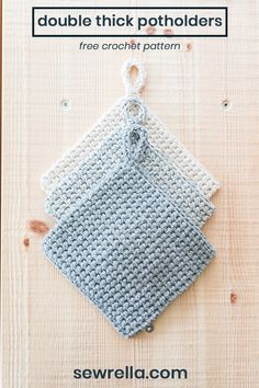 crochet double thick potholders - free pattern - - Free Crochet Pattern for THICK Crochet Potholders. These are made with beginner techniques and an in-depth video tutorial for easy crocheting. Crochet Kitchen, Crochet Home, Crochet Geek, Knit Crochet, Crochet Stitch, Crochet Birds, Crochet Animals, Crochet Patterns For Beginners, Easy Crochet Patterns