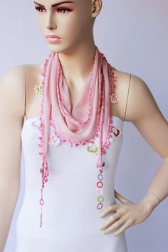 Turkish oya scarf  turkish yemeni hand crocheted lace by SenasShop, $23.90