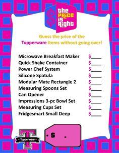 Tupperware Game