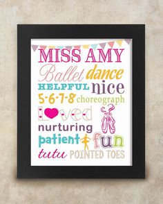 NEW PERSONALISE WITH A NAME BALLET SHOES BAG BIRTHDAY CHRISTMAS BACK TO SCHOOL