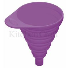 @PJ Marketing @Debrah Kitchen Craft #colourful little helper – this #small #collapsible #silicone #funnel is ideal for transferring liquids and dry goods to recipe mixtures whilst baking or filling into bottles with narrow necks.