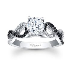 Barkevs Black and White Engagement Ring