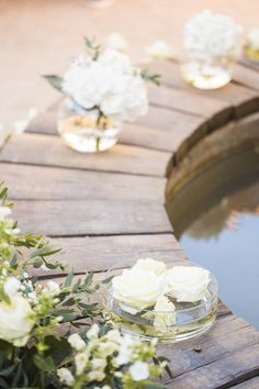 Image by M&J Photography - A Beautiful Destination Wedding at Chateau du Puits es Pratx in France With A Handmade Bohemian Wedding Dress And White Colour Scheme By M&J Photography.