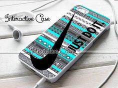 Nike Just Do It On Aztec Mint Pattern - iPhone 4/4s/5/5s/5c Case - Samsung Galaxy S2/S3/S4 Case - Black or White on Etsy, $15.50