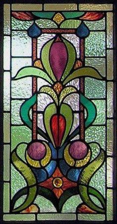 Victorian – Stained Glass Window Panels - My Magnificent Ideas Victorian Stained Glass Panels, Stained Glass Quilt, Stained Glass Door, Stained Glass Designs, Stained Glass Projects, Leaded Glass, Window Glass, Stained Glass Patterns Free, Mosaic Patterns